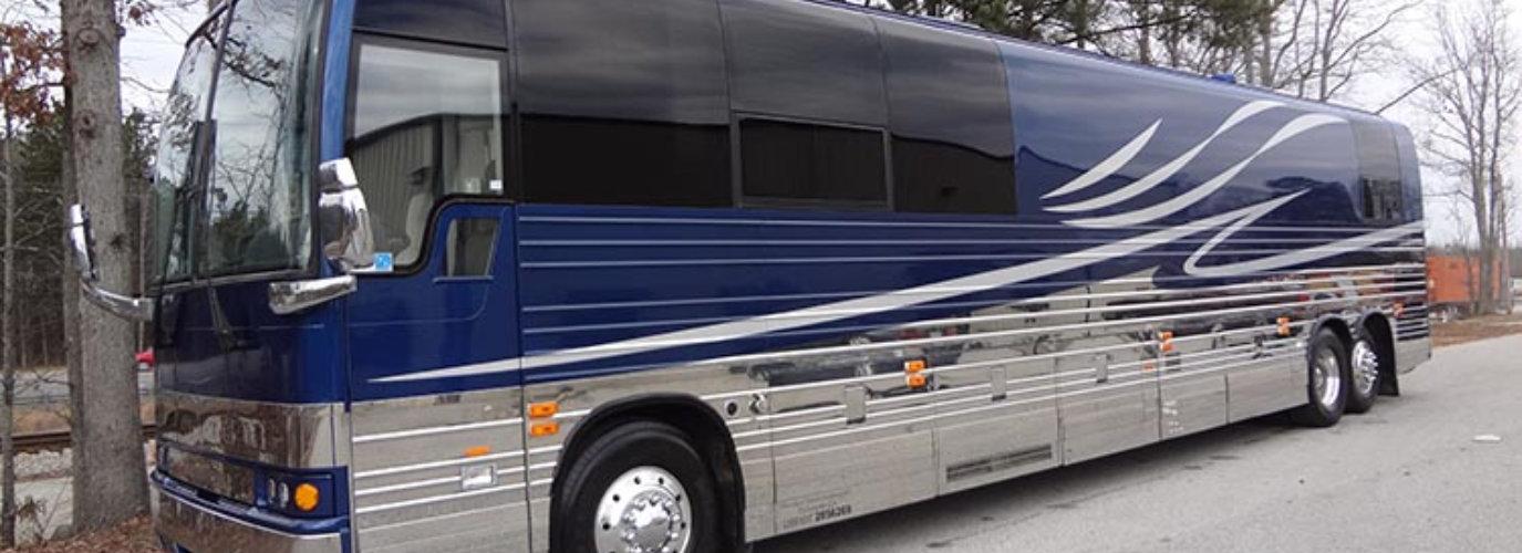 Blue Luxury Bus