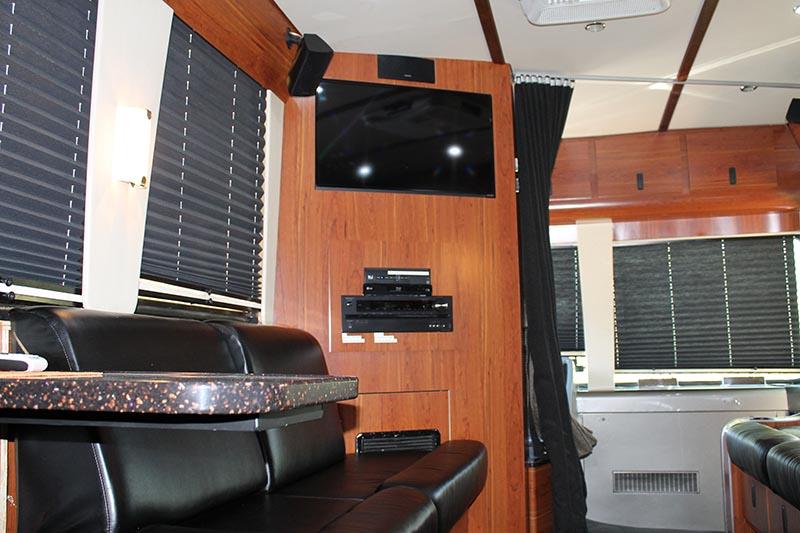 interior of a bus