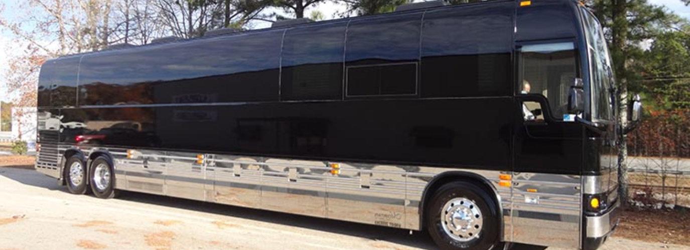 Luxury Bus parking outside