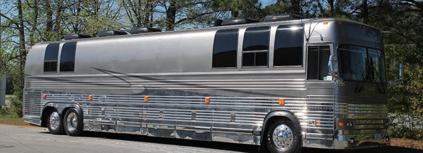 Silver Luxury Bus